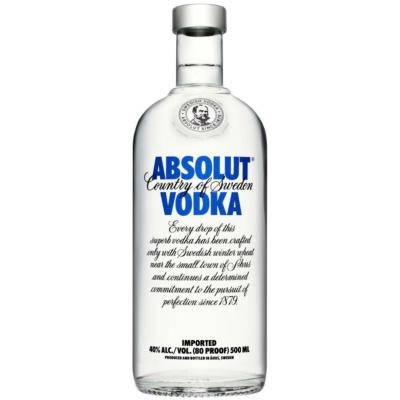 Absolut vodka          40%    0,5lx12