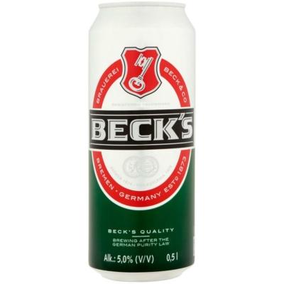 Beck s sör       5,0% 24x0,5l dobozos