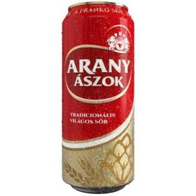 Arany Ászok sör 4,3%   24x0,5 dobozos