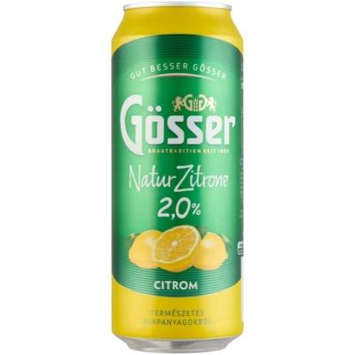 Gösser Natur Zitrone 2,0% 24x0,5doboz